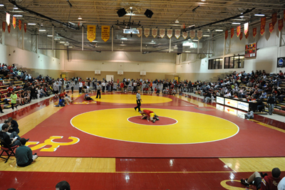 Simpson wrestlers battle nation's best at Iowa Conference Duals