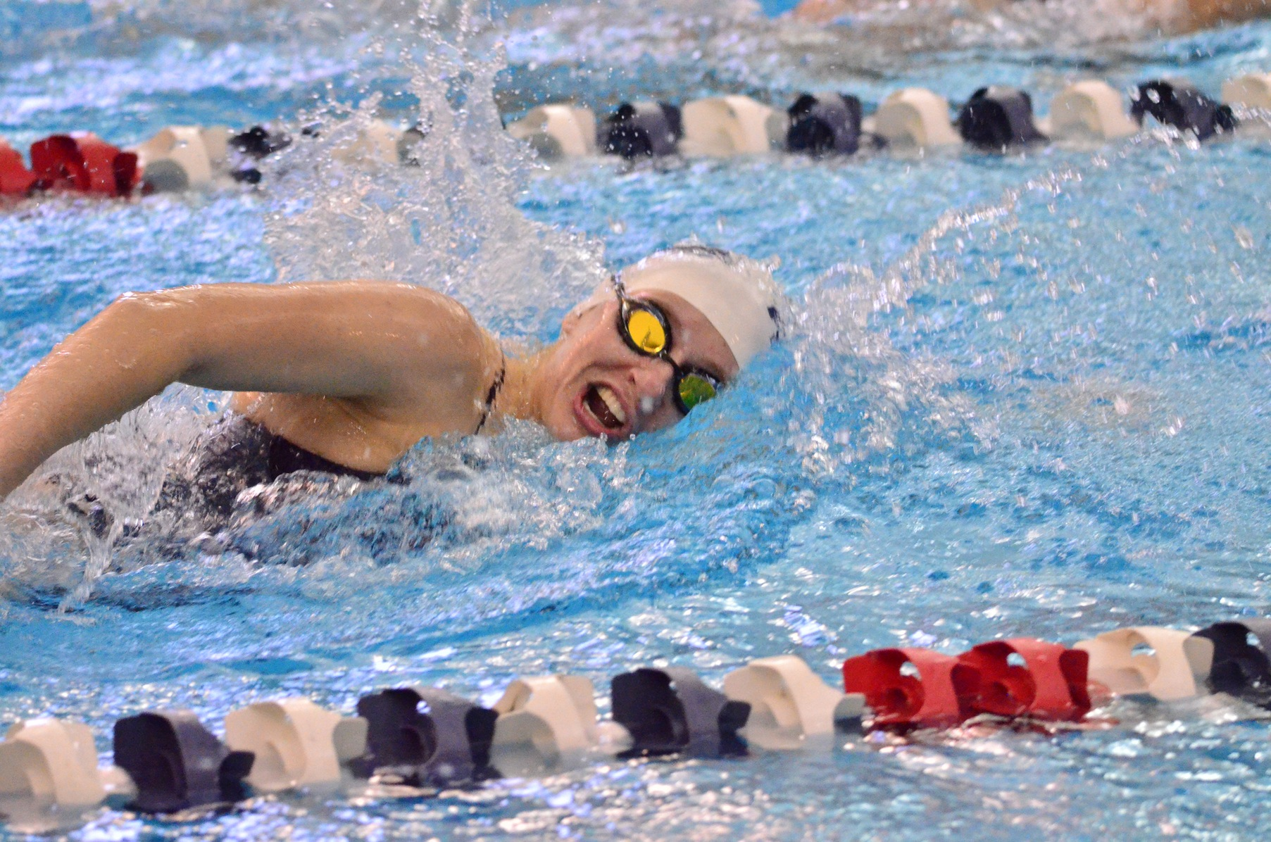 Women's Swimming and Diving Battling at AMCC Championships