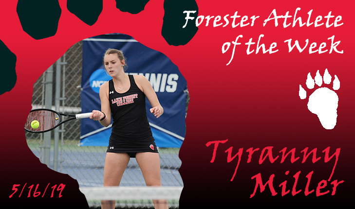 Tyranny Miller Named Forester Athlete of the Week