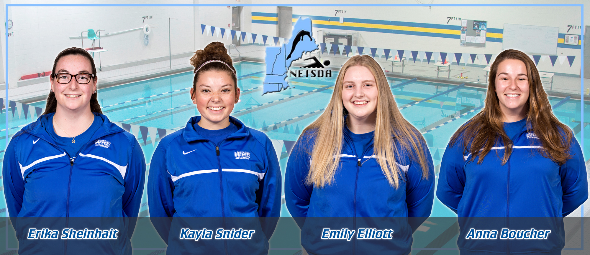 Four WNE Swimmers Named to NEISDA Fall All-Academic Team