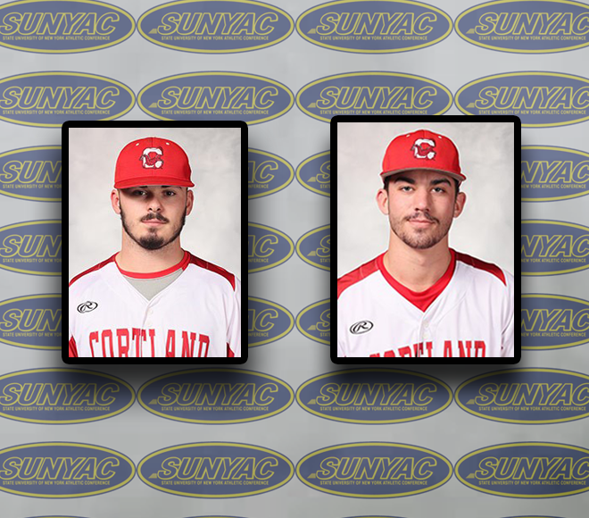 Cortland sweeps first Baseball Athlete and Pitcher of the Week awards for 2018 season