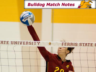 Ferris State Women's Volleyball Weekly Notes (Matches 20-21)