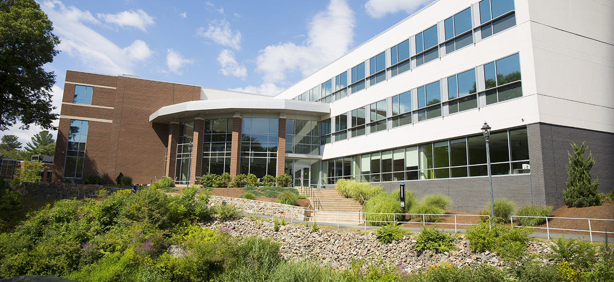 Exterior shot of the Life Science building.