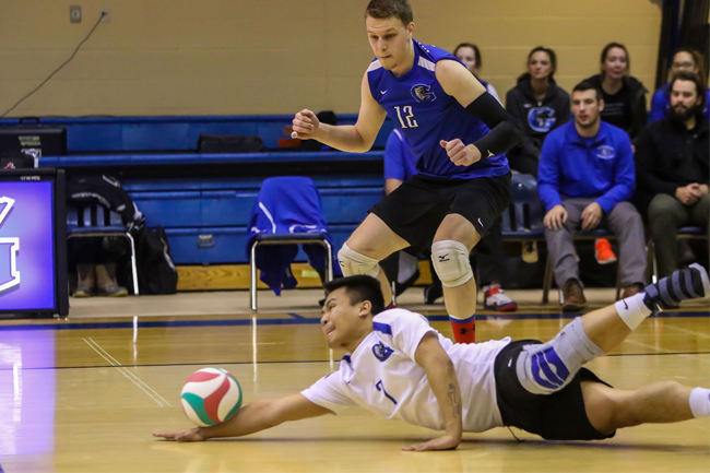 MEN'S VOLLEYBALL BOUNCE BACK AGAINST LORDS