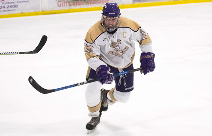 First-Place Men's Ice Hockey Downs Southern New Hampshire, 4-1