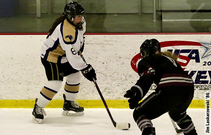 Women's Ice Hockey Loses 4-3 Decision at Franklin Pierce to Begin Weekend Set
