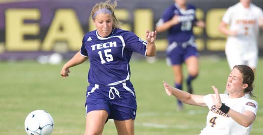 Meloff's two goals lead Golden Eagles to 2-1 win over Lipscomb