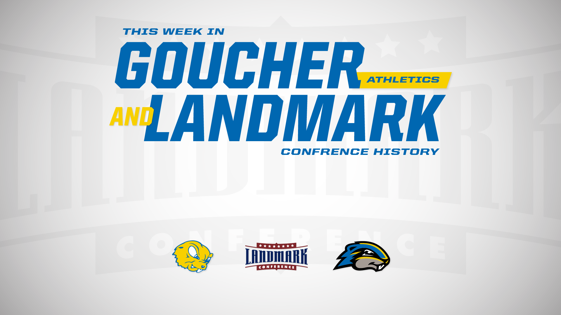 This Week In Goucher Landmark Conference History (September 7-13)