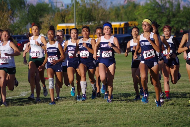 Cerritos women's cross country at the UNLV Invitational