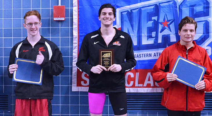 Men's Swimming Takes 800 Free Relay TItle On Day Two Of NEACs
