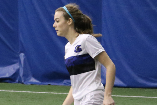 WOMEN'S INDOOR SOCCER BATTLE TO SEMI-FINALS BERTH