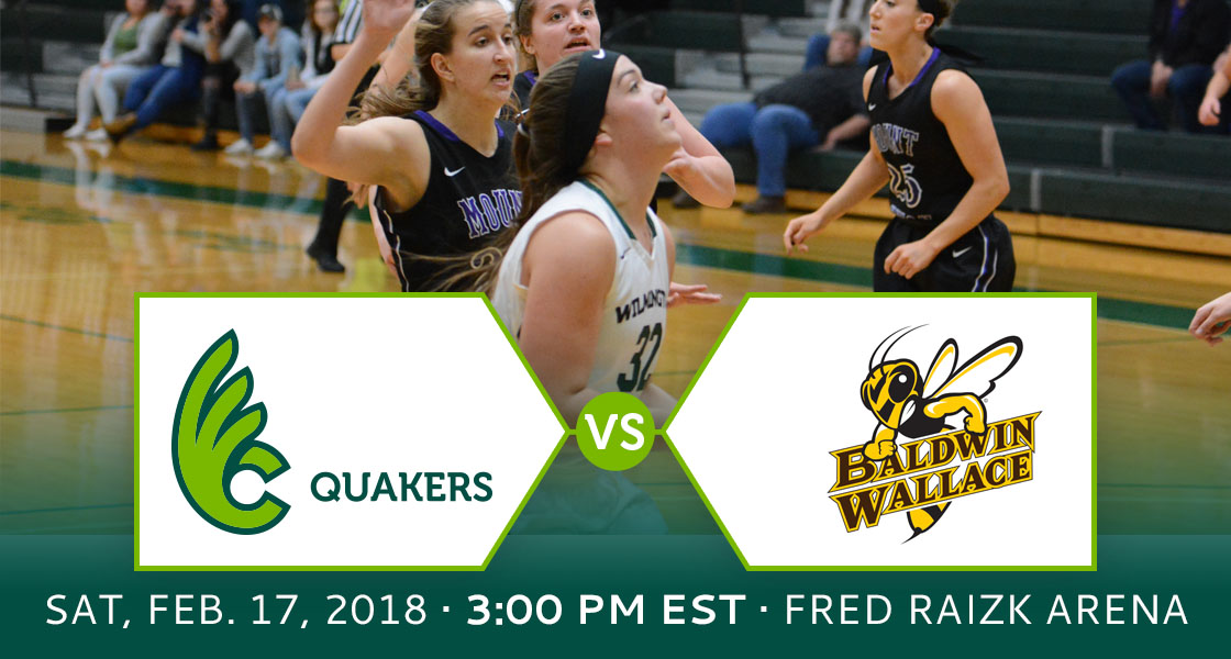 Women's Basketball Hosts Baldwin Wallace for Senior Day on Saturday