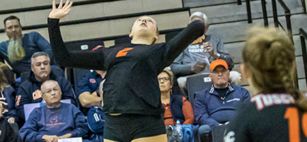Tusculum Falls to Eagles in Four Sets