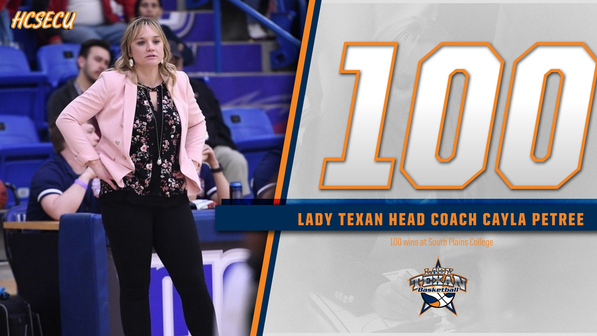 Petree gets win number 100 as No. 2 Lady Texans trounce No. 13 Salt Lake 77-35