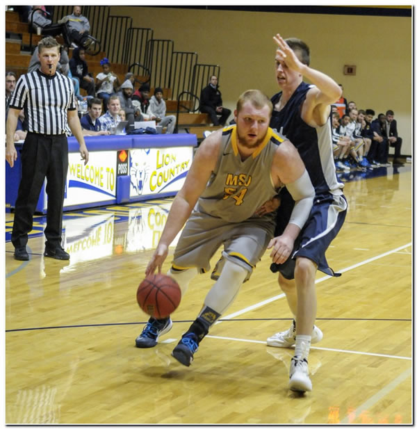 Mount men's basketball team moves into sole possession of first place in HCAC with road win at Hanover College