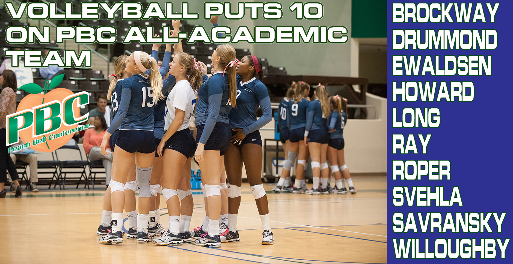 Bobcat Volleyball Puts 10 On PBC All-Academic Team