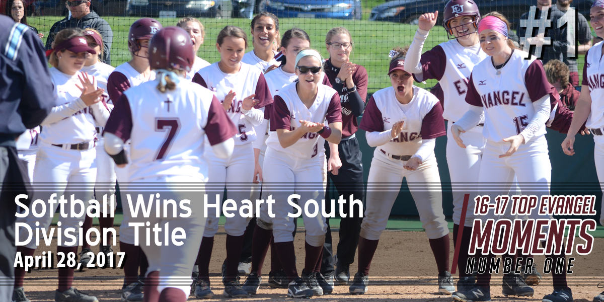 Top Evangel Moments from 2016-17: #1 – Softball Wins Heart South Division Championship