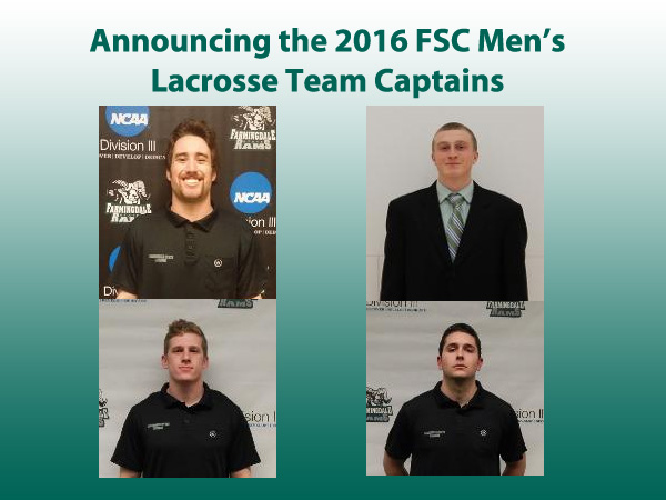 Men's Lacrosse Announces 2016 Team Captains