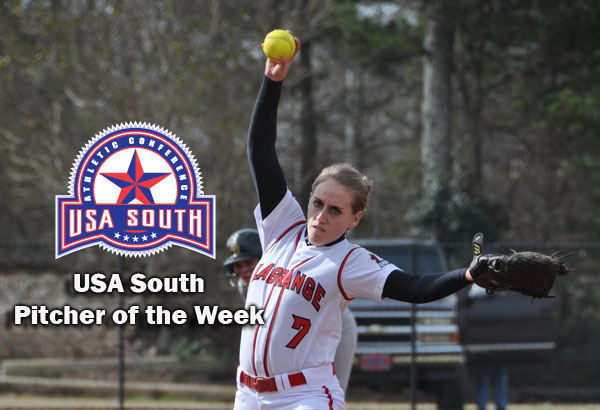 Softball: Folds named USA South Pitcher of the Week