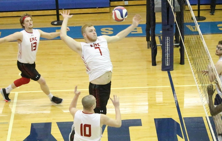 Comeback Bid Falls Short for Men's Volleyball in Narrow 3-2 Loss at Emmanuel