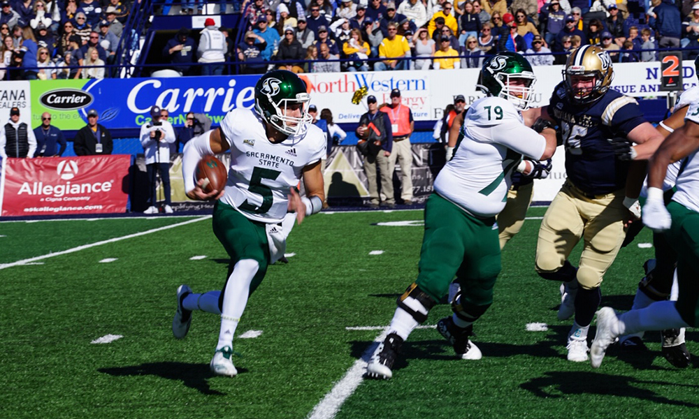 FOOTBALL NEVER TRAILS IN 34-21 WIN OVER NO. 6 MONTANA STATE