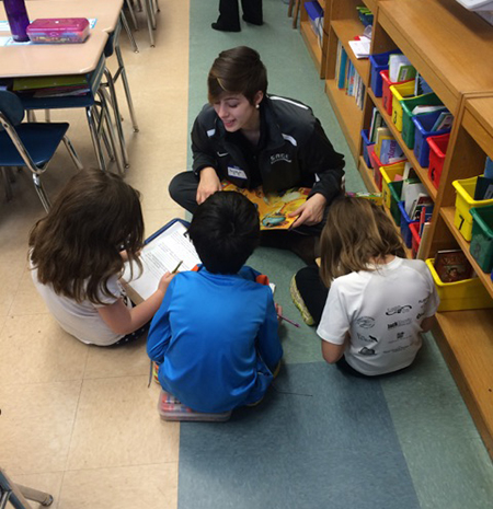 Gators participate in Chompers' Reading Extravganza