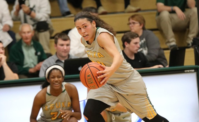 Lauren Anten (24) led Keuka College with 19 points on Wednesday -- Photo by Chey Bennett