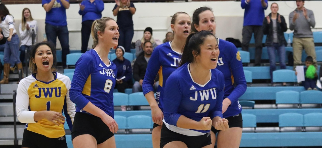 JWU Women's Volleyball Tops Babson 3-1 to Advance to Regional Final
