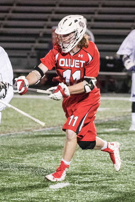 Charlie Haesler, Olivet, Men's Lacrosse Defensive Player of the Week 3/13/17