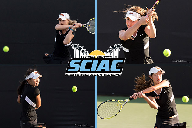 Four Athena tennis players selected to All-SCIAC teams