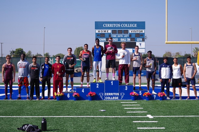 Andrew Fowler placed fifth in the SoCal Decathlon Championships