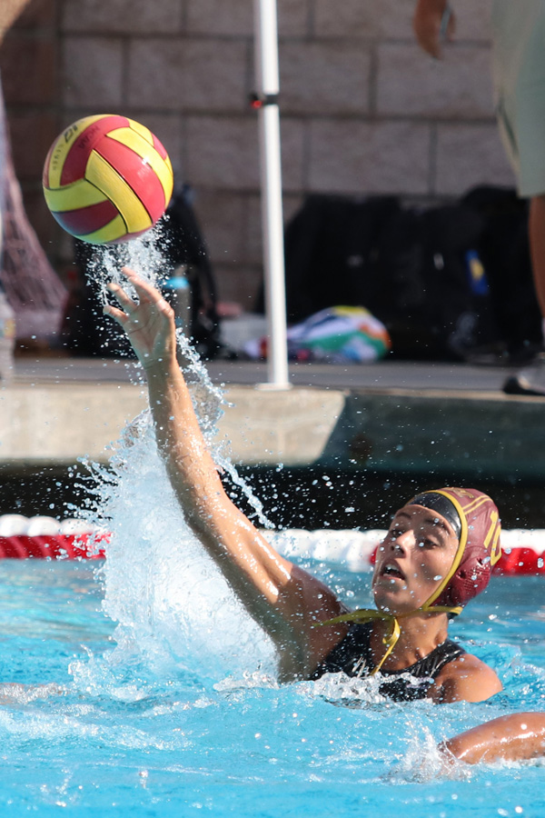 Yesenia Marin is the only letterman on the 2018 PCC women's water polo team. She scored six goals in two games to open the season on Saturday.