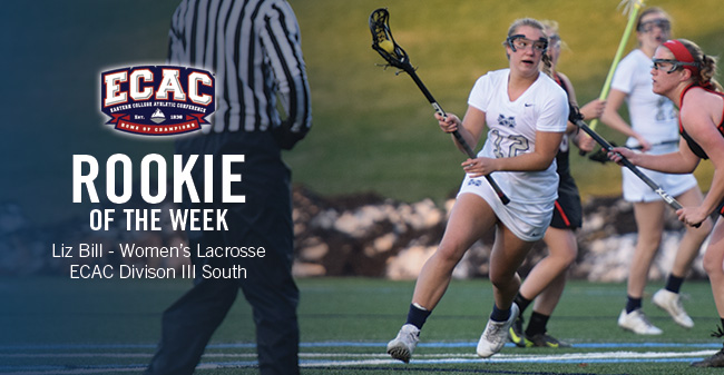 Bill Honored as ECAC Division III South Women's Lacrosse Rookie of the Week