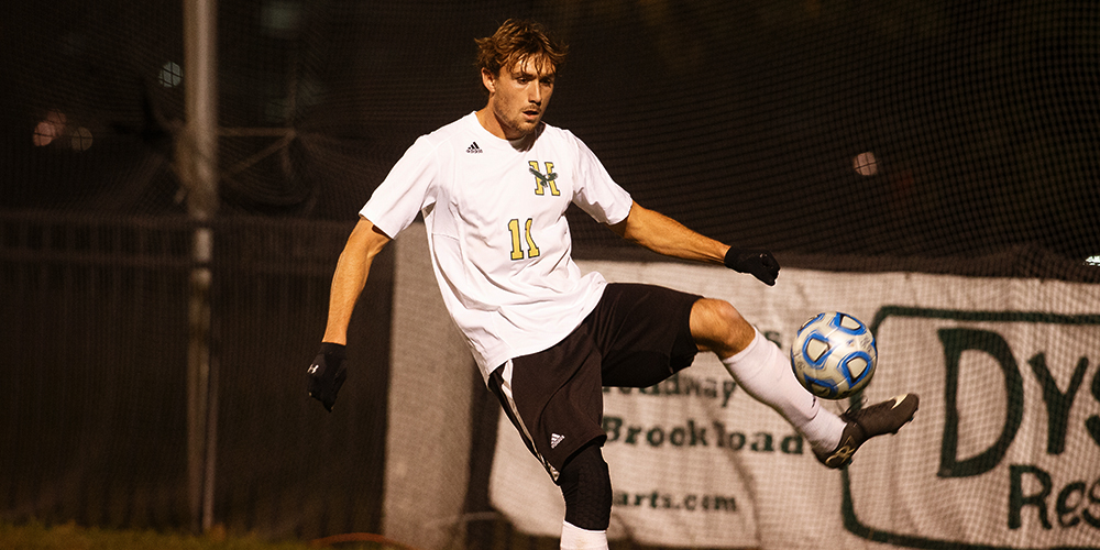 Men's Soccer Comes Back to Defeat New England College 2-1