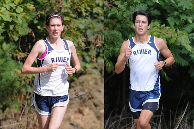 Rivier XC runs to a pair of third place finishes at the Raider Invitational