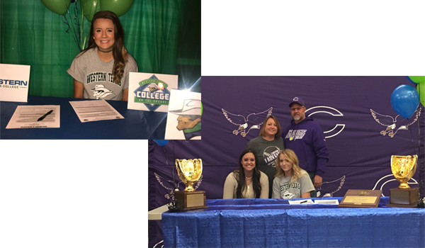 Two Sign With WTC Softball