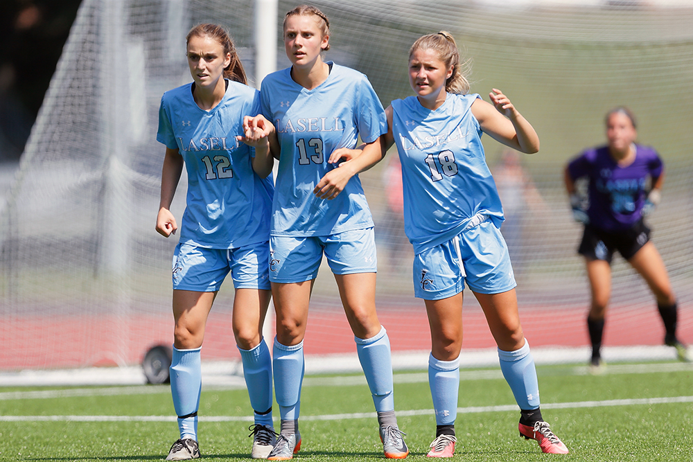 Lasell Women's Soccer blanks Simmons for GNAC victory
