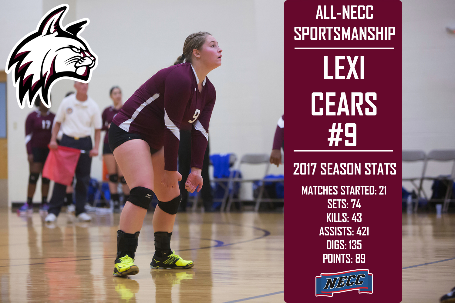 Cears selected to All-NECC Sportsmanship Team