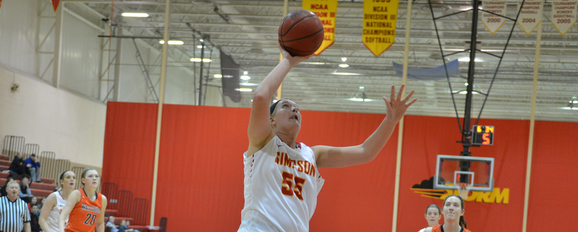 Noreen Morrow scored a game-high 23 points in Simpson's loss at Loras on Saturday.