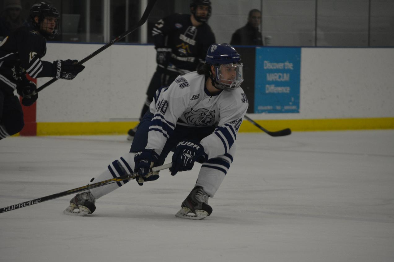 Men's Hockey Rolls Past Stonehill 4-1