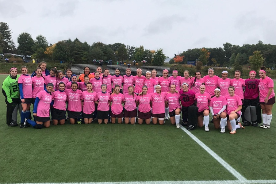 Saturday's game was part of the NEWMAC's annual Play4theCure initiative.