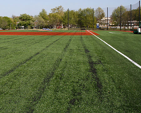Hoy Field closed this weekend for hydroseeding