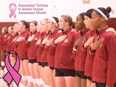 Ferris Volleyball Encourages Fans To DiG PiNK
