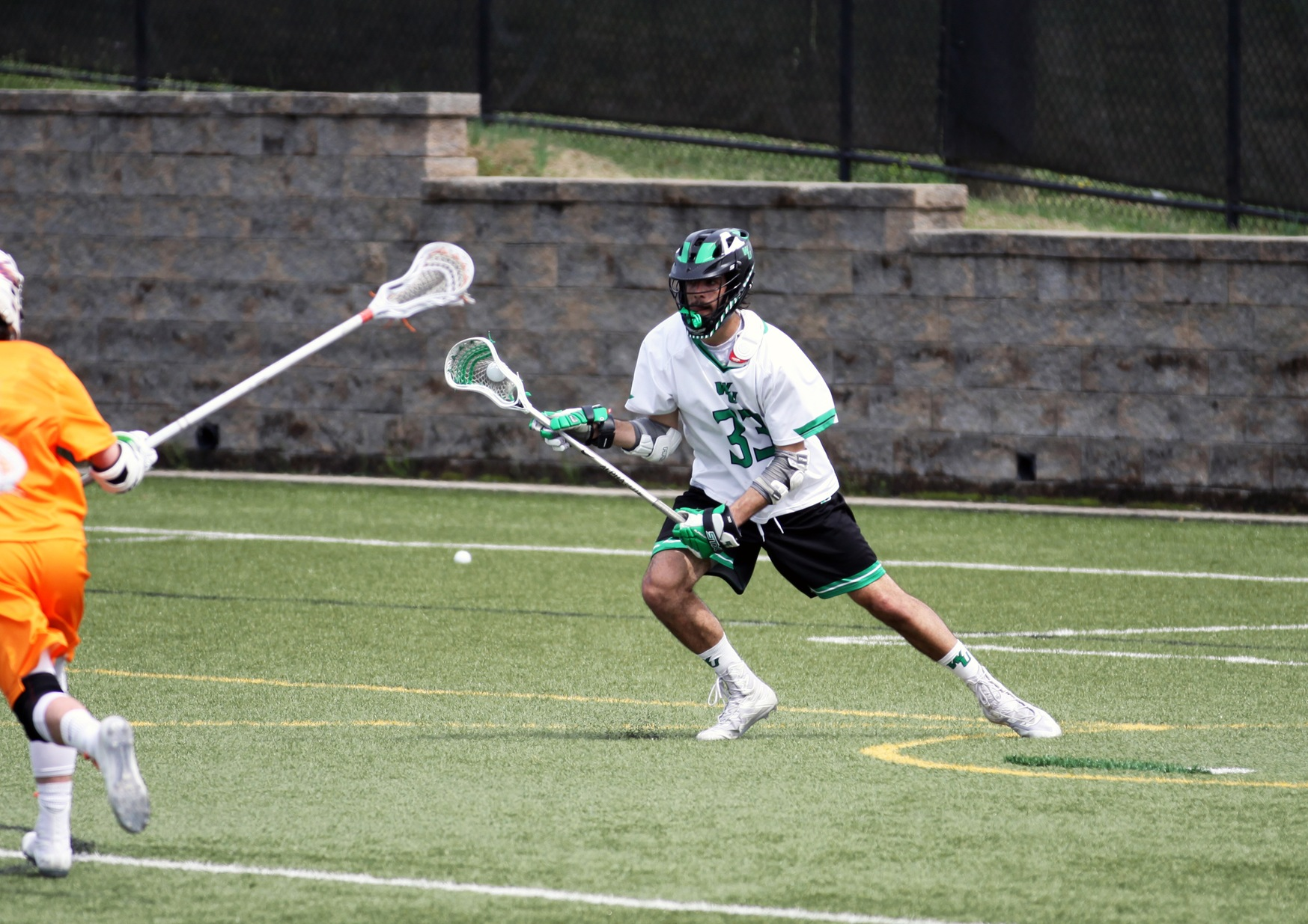 Copyright 2019; Wilmington University. All rights reserved. File photo of Dylan McCleaft, taken by Katlynne Tubo. APril 13, 2019 vs. Post.