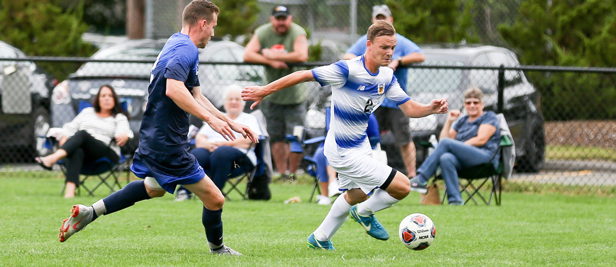 Junior Corey Brown scored his first goal of the season in Western New England's 3-2 overtime loss to Gordon College on Saturday. (Photo by Chris Marion)