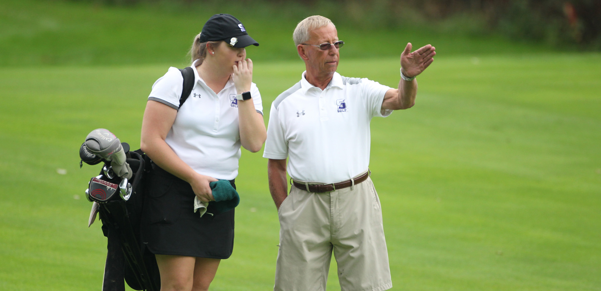 Coach Ed Karpovich and the women's golf team will wrap up their fall season on Sunday against Misericordia.