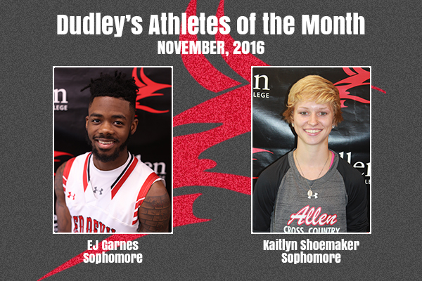 Dudley's November Athletes of the Month