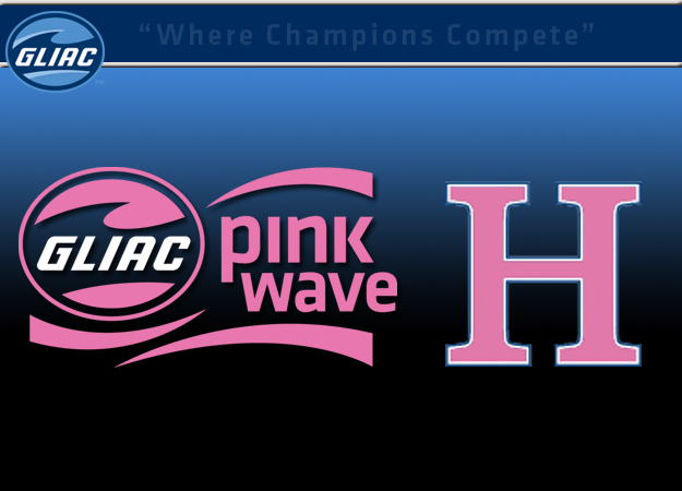 Hillsdale basketball teams participate in GLIAC's Pink Wave event