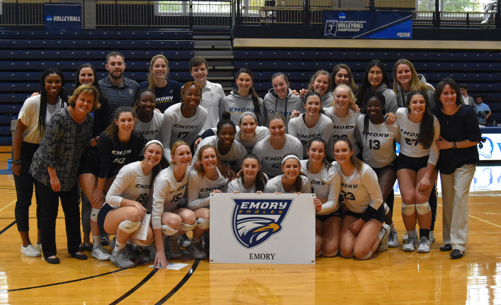 Emory Volleyball Sweep Mary Hardin-Baylor To Win Mount Berry Regional