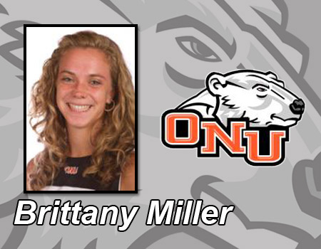 Brittany Miller wins twice to lead Women's Tennis to 6-3 victory over Division II Walsh